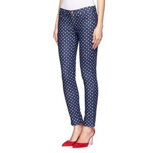 J Crew Polka Dot Ankle jeans size 27